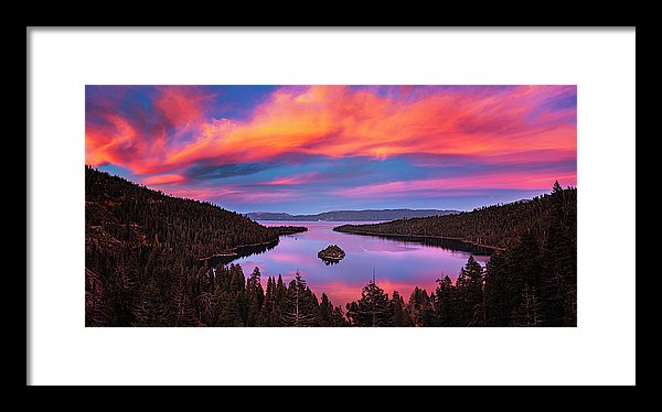 Emerald Bay Explode by Brad Scott - Framed Print