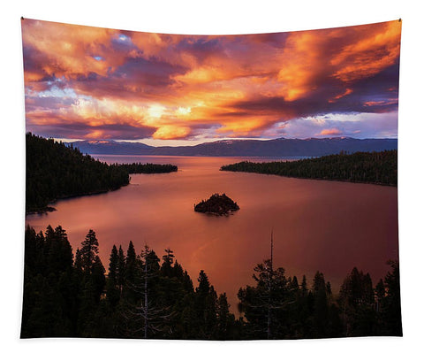 Emerald Bay Fire - Tapestry
