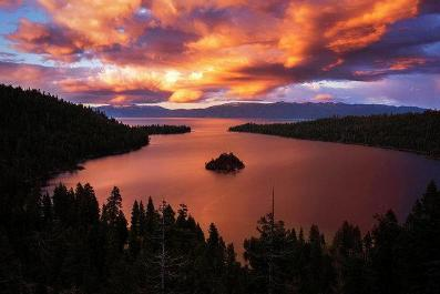 Emerald Bay Fire by Brad Scott - Art Print