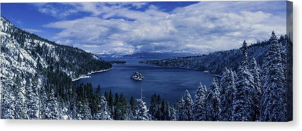 Emerald Bay First Snow - Canvas Print
