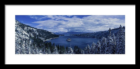 Emerald Bay First Snow - Framed Print
