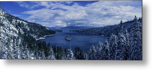 Emerald Bay First Snow - Metal Print