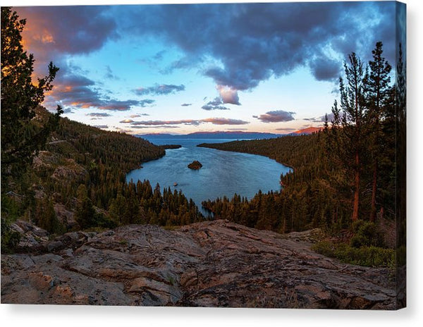 Emerald Bay Granite By Brad Scott - Canvas Print