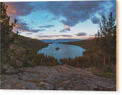 Emerald Bay Granite By Brad Scott - Wood Print