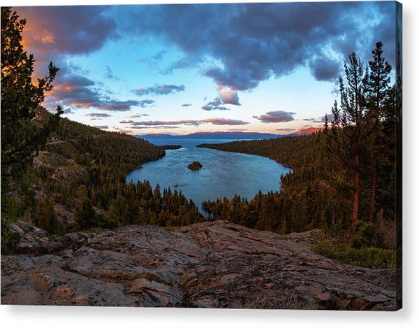 Emerald Bay Granite By Brad Scott - Acrylic Print