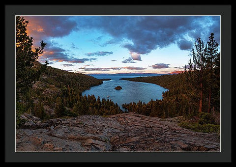 Emerald Bay Granite By Brad Scott - Framed Print