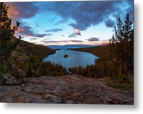 Emerald Bay Granite By Brad Scott - Metal Print