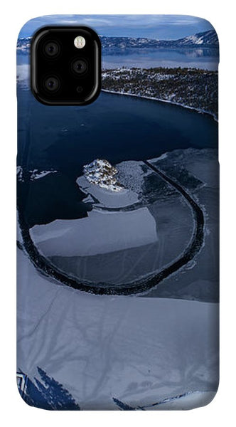 Emerald Bay Ice Aerial - Phone Case