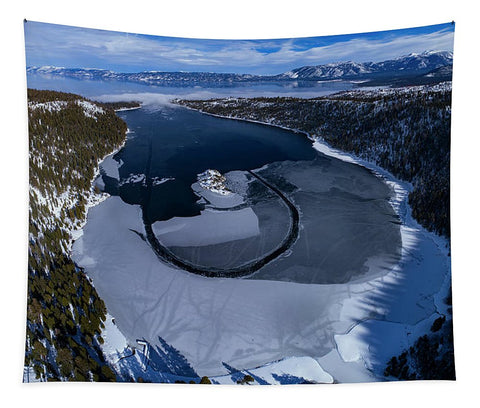 Emerald Bay Ice Aerial - Tapestry