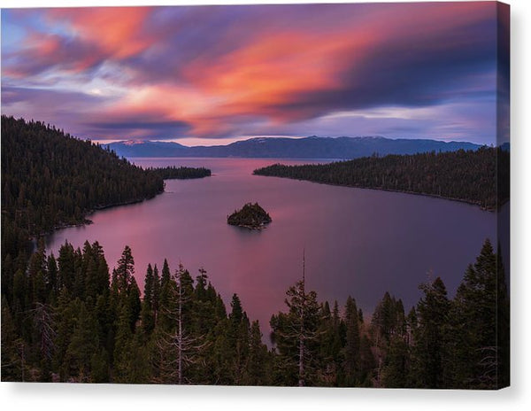 Emerald Bay Loves You By Brad Scott - Canvas Print