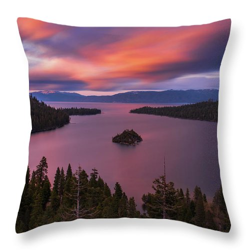 Emerald Bay Loves You By Brad Scott - Throw Pillow