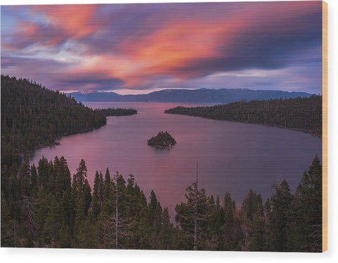 Emerald Bay Loves You By Brad Scott - Wood Print