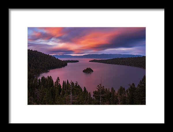 Emerald Bay Loves You By Brad Scott - Framed Print