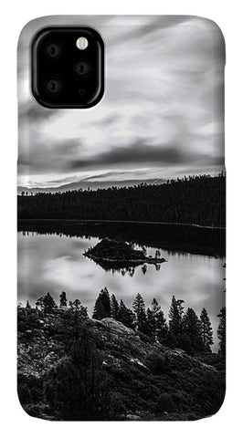 Emerald Bay Rays Black And White By Brad Scott - Phone Case