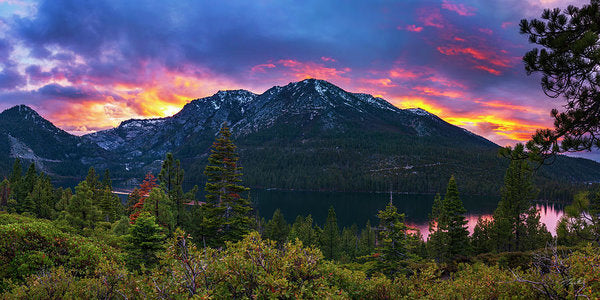 Emerald Bay Secret Sunset Panorama By Brad Scott - Art Print