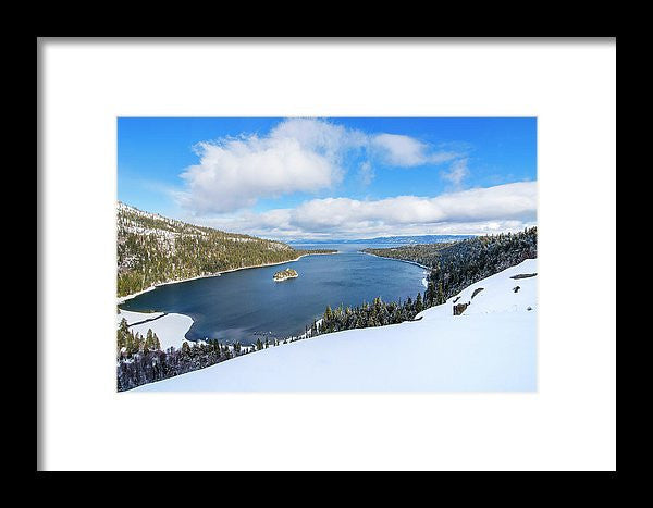 Emerald Bay Slopes - Framed Print