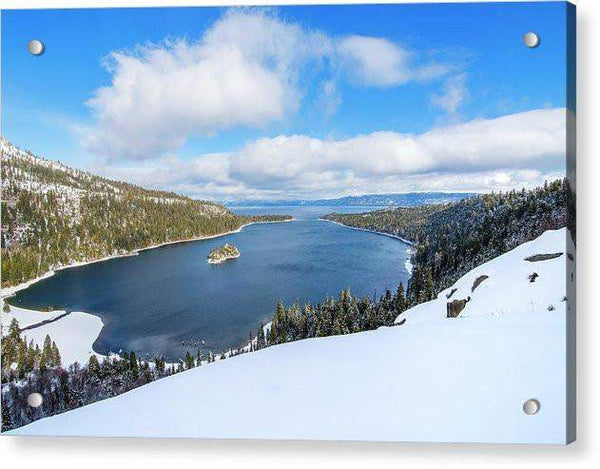 Emerald Bay Slopes - Acrylic Print
