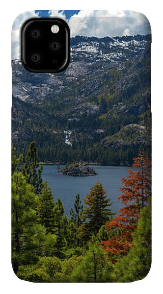 Emerald Bay Spring Day By Brad Scott - Phone Case