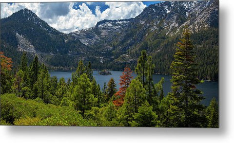 Emerald Bay Spring Day By Brad Scott - Metal Print