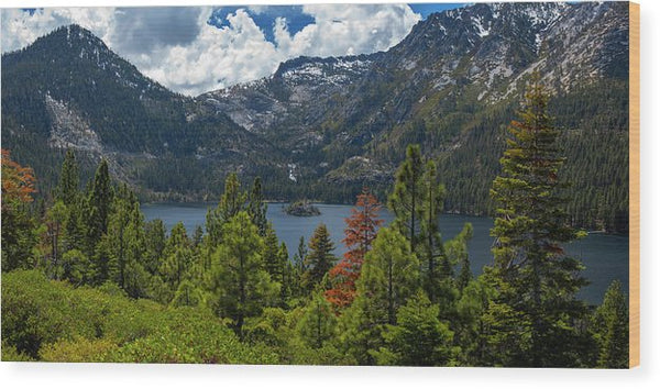Emerald Bay Spring Day By Brad Scott - Wood Print