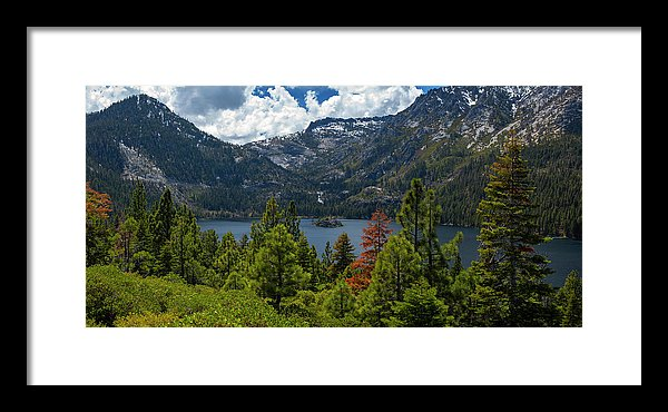 Emerald Bay Spring Day By Brad Scott - Framed Print
