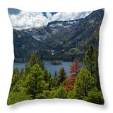 Emerald Bay Spring Day By Brad Scott - Throw Pillow