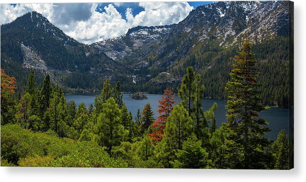 Emerald Bay Spring Day By Brad Scott - Acrylic Print