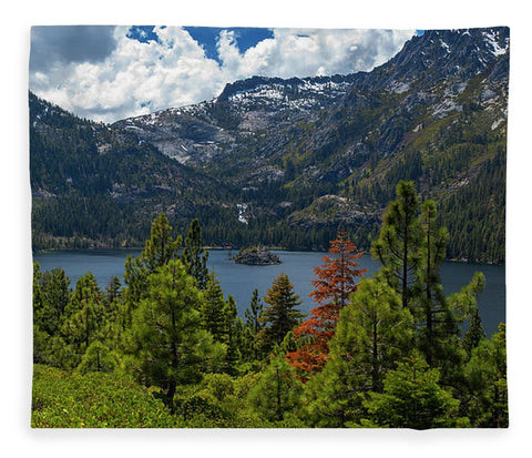 Emerald Bay Spring Day By Brad Scott - Blanket