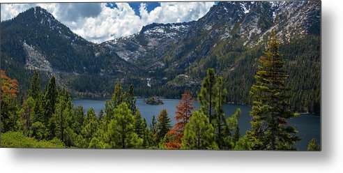 Emerald Bay Spring Day Pano - Metal Print