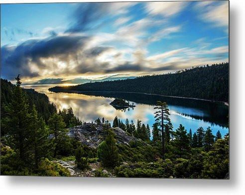 Emerald Bay Rays by Brad Scott - Emerald Bay Lake Tahoe Sunrise - Metal Print-Metal Print-Lake Tahoe Prints