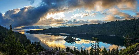 Emerald Bay Sunrise Rays - Art Print-Lake Tahoe Prints
