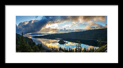 Emerald Bay Sunrise Rays - Framed Print-Lake Tahoe Prints
