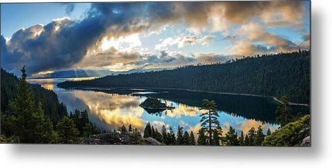 Emerald Bay Sunrise Rays - Metal Print-Lake Tahoe Prints