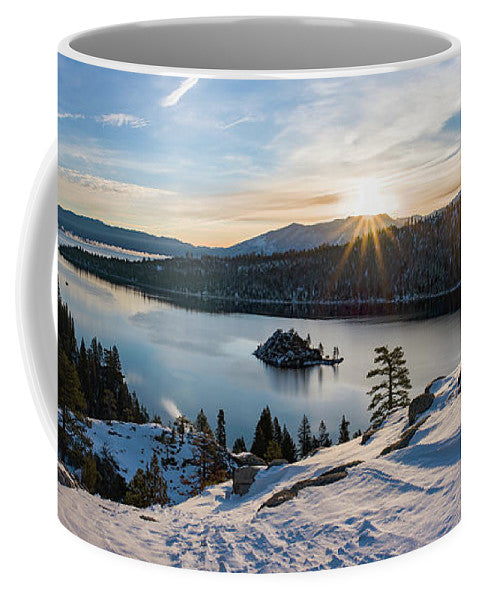 Emerald Bay Winter Sunburst By Brad Scott - Mug