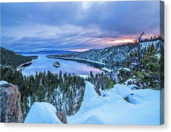 "Emerald Bay Winter Sunrise - Canvas Print-10.000"" x 6.625""-Lake Tahoe Prints"