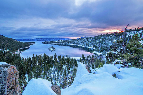 Emerald Bay Winter Sunrise - Art Print