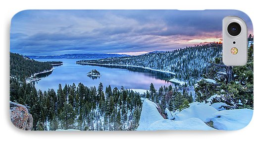 Emerald Bay Winter Sunrise - Phone Case-Phone Case-IPhone 7 Case-Lake Tahoe Prints