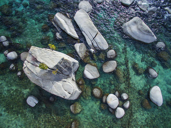 Emerald Waters - Bonsai Rock, Lake Tahoe - Art Print