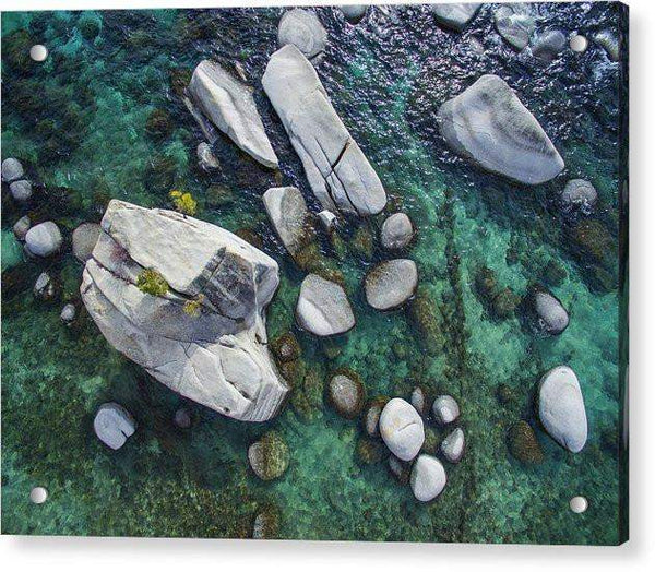 Emerald Waters - Bonsai Rock, Lake Tahoe - Acrylic Print