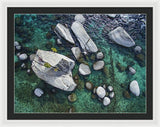 Emerald Waters - Bonsai Rock, Lake Tahoe - Framed Print