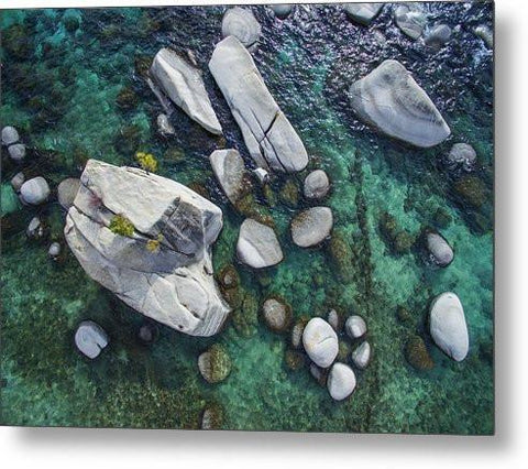 Emerald Waters - Bonsai Rock, Lake Tahoe - Metal Print-Metal Print-Lake Tahoe Prints