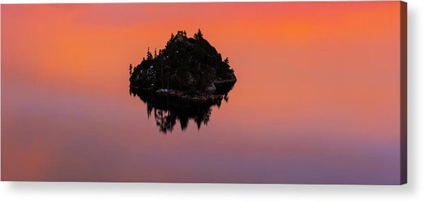 Fannette Island Lake Tahoe - Last Sunset Of The Decade - Acrylic Print by Brad Scott