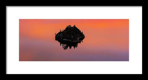 Fannette Island Lake Tahoe - Last Sunset Of The Decade - Framed Print