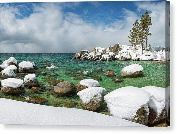 "Frozen Aquas By Brad Scott - Canvas Print-10.000"" x 6.500""-Lake Tahoe Prints"