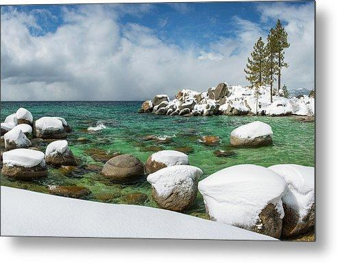 Frozen Aquas By Brad Scott - Metal Print-Metal Print-Lake Tahoe Prints
