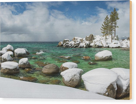 Frozen Aquas By Brad Scott - Wood Print