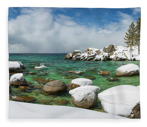 Frozen Aquas By Brad Scott - Blanket