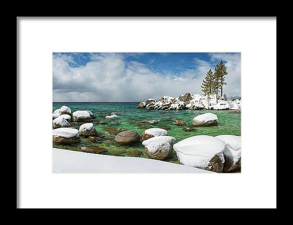 Frozen Aquas By Brad Scott - Framed Print