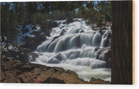 Glen Alpine Waterfall By Brad Scott - Wood Print