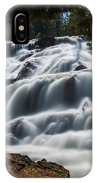 Glen Alpine Waterfall By Brad Scott - Phone Case-Phone Case-IPhone X Case-Lake Tahoe Prints